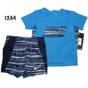 Nike Tee Shorts Set 2 pc Boys Outfit Shirt